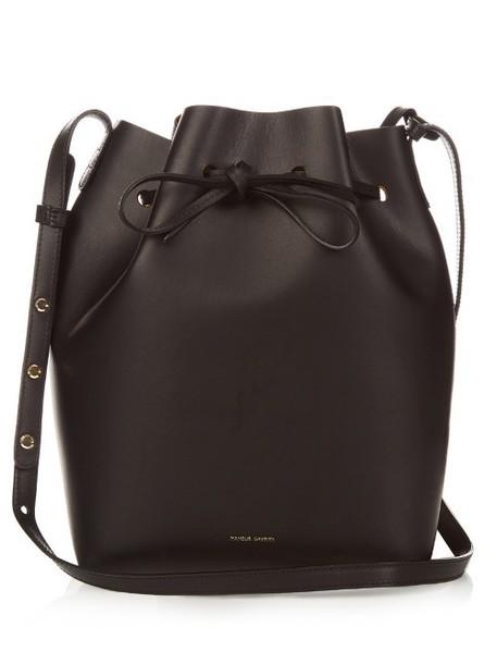 Mansur Gavriel bag bucket bag gold leather black