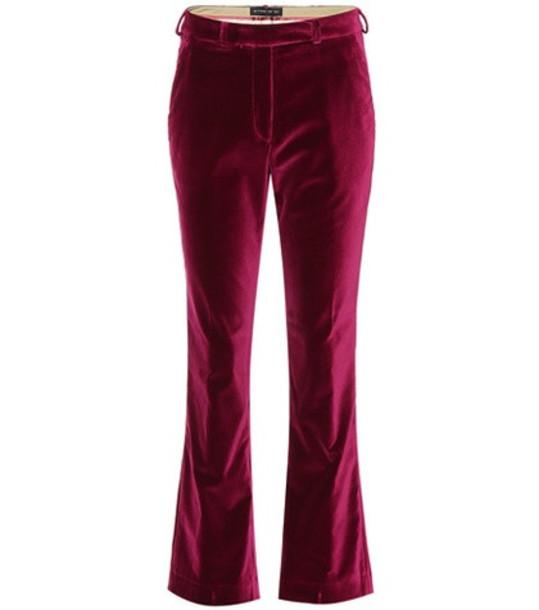Etro Velvet pants in red