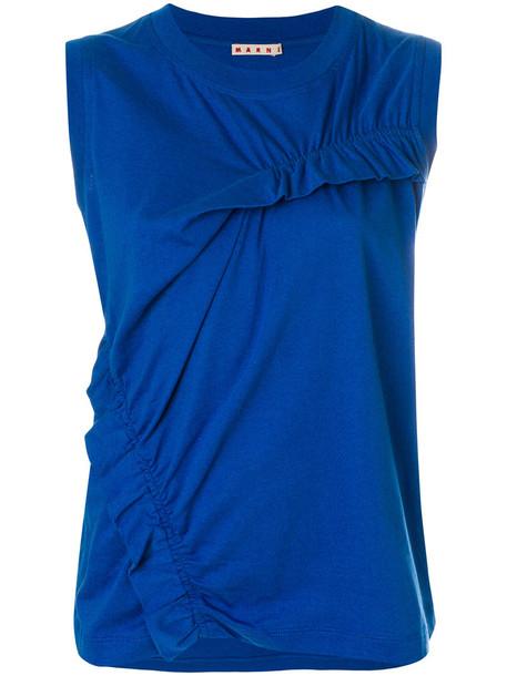 MARNI vest women cotton blue jacket