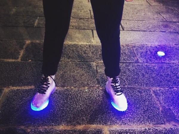 shoes shiny light up shoes led