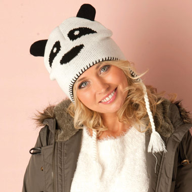 Brave Soul Womens Panda Knitted Hat |discount brave soul | Get the Label