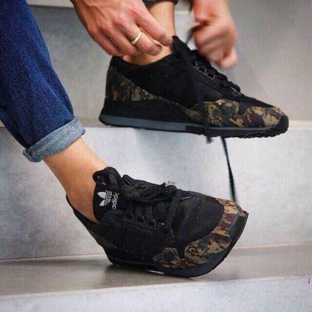 adidas camo shoes womens