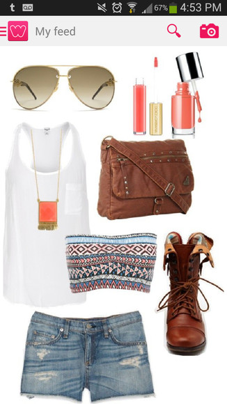 white tank summer shirt tank top cute bandeau tribal tanktop shoes