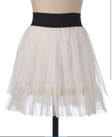 skirt tulle tulle skirt white high waisted skirt