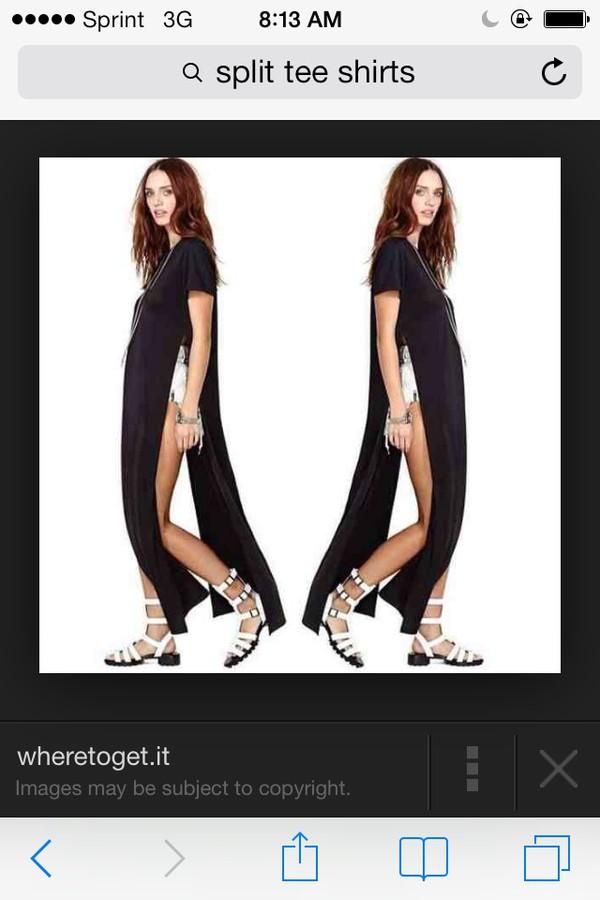 blouse black split shirt dress black maxi dress