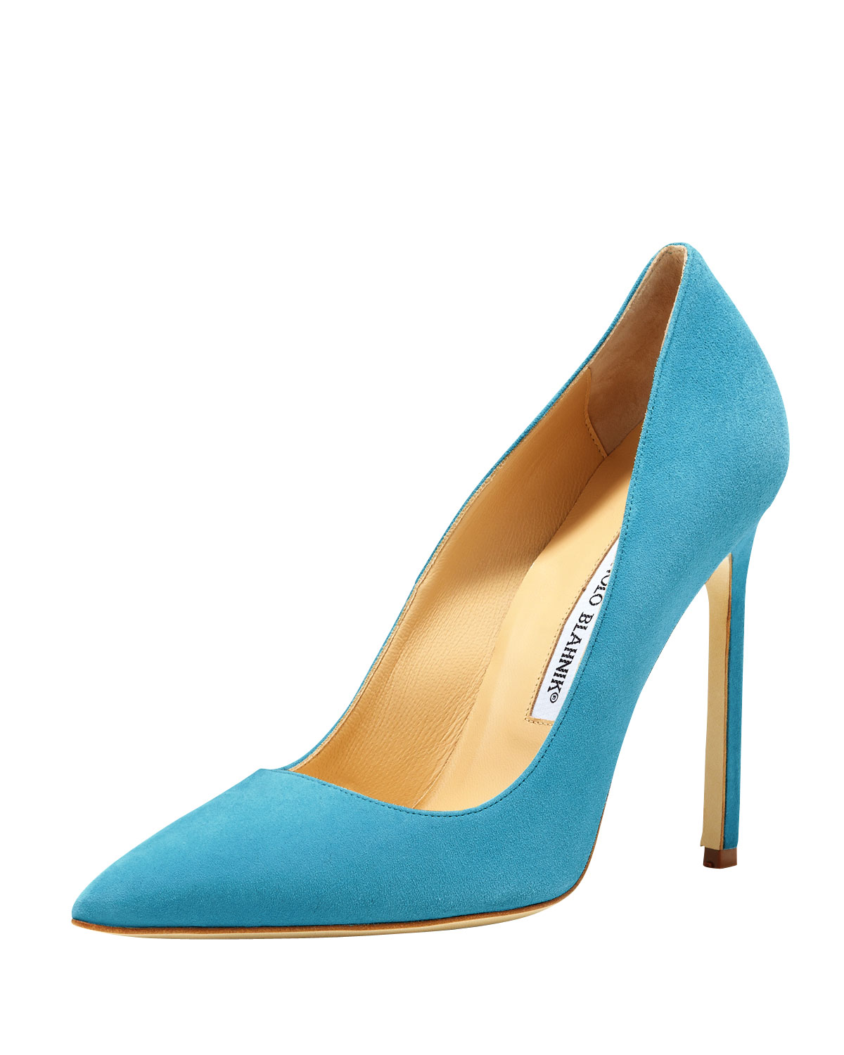 Manolo Blahnik BB Suede 115mm Pump, Malibu Blue
