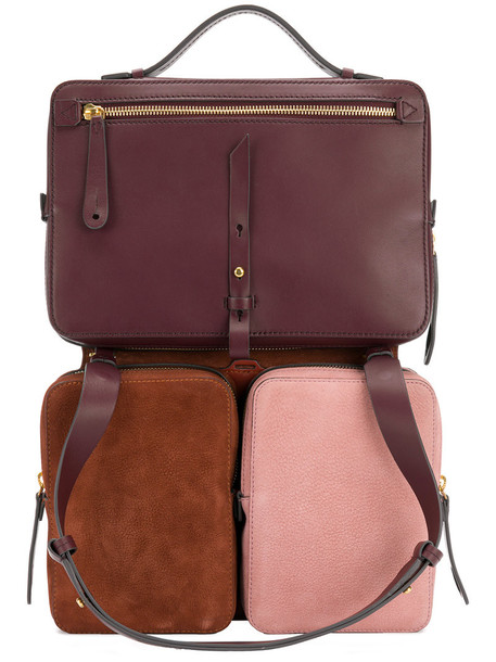Anya Hindmarch women backpack leather suede bag