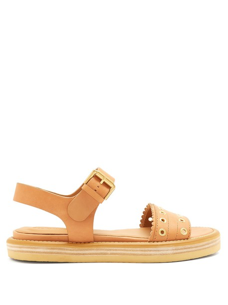 See by Chloe embellished sandals leather sandals leather tan shoes