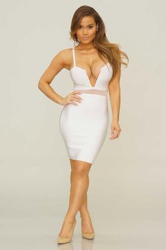 dress bandage dress bodycon dress white dress skirt neon