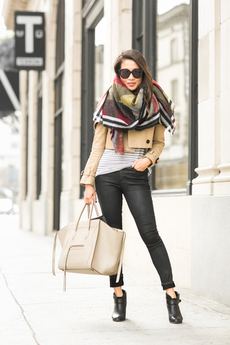 wendy's lookbook blogger jacket sweater dress shoes scarf top bag sunglasses blanket scarf