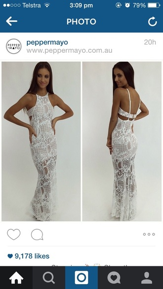 dress formal cute hot pretty new trending dress white dress formal dress fashion formal event outfit lace dress