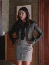 dress,grey,blazer,Karla Souza,Laurel Castillo,how to get away with murder