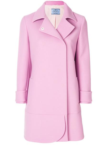 Prada coat women wool purple pink
