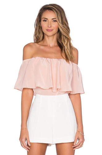 top off the shoulder blush