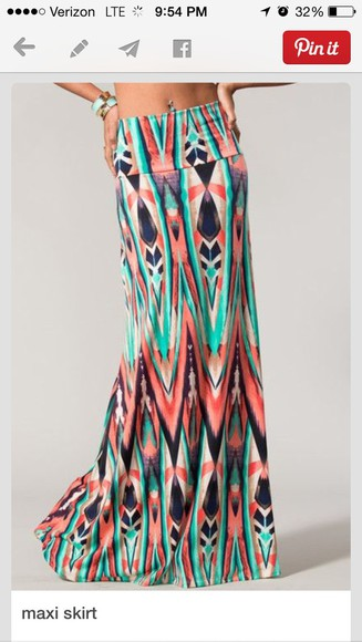 aztec skirt maxi dress maxi skirt summer dress summer outfits