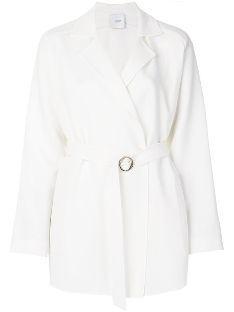 Agnona coat women white wool
