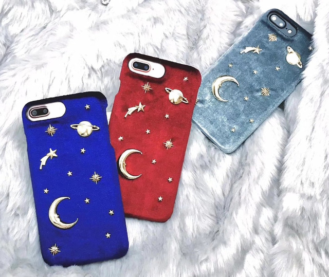 For iPhone X Fashion Women Velvet Rivet Planet Moon Stars Space Cell Phone Cases For Apple iPhone 6 6s 7 8 Plus Case Cover Capa-in Underwear from Mother & Kids on Aliexpress.com | Alibaba Group