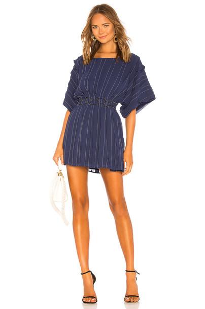 Tularosa Sienna Dress in blue