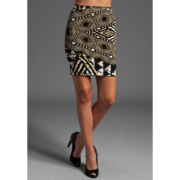 Bcbgmaxazria Tribal Print Double Jacquard Skirt - Polyvore