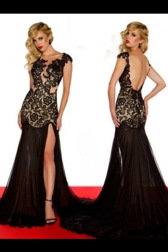 dress prom dress cute dress embroidery dress red carpet dress black dress lace backless black dress maxi dress black embroidered dress celebrity style red carpet