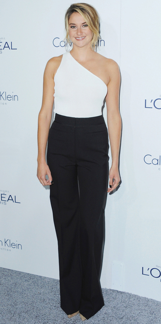 top one shoulder shailene woodley pants