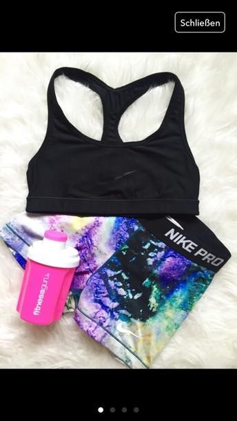 shorts nike pro nike pro galaxy print sportswear sports shorts