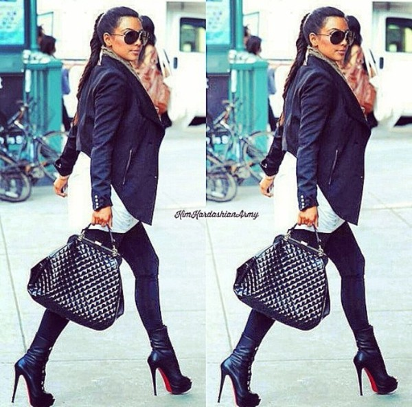 jacket kim kardashian kim kardashian shoes bag sunglasses