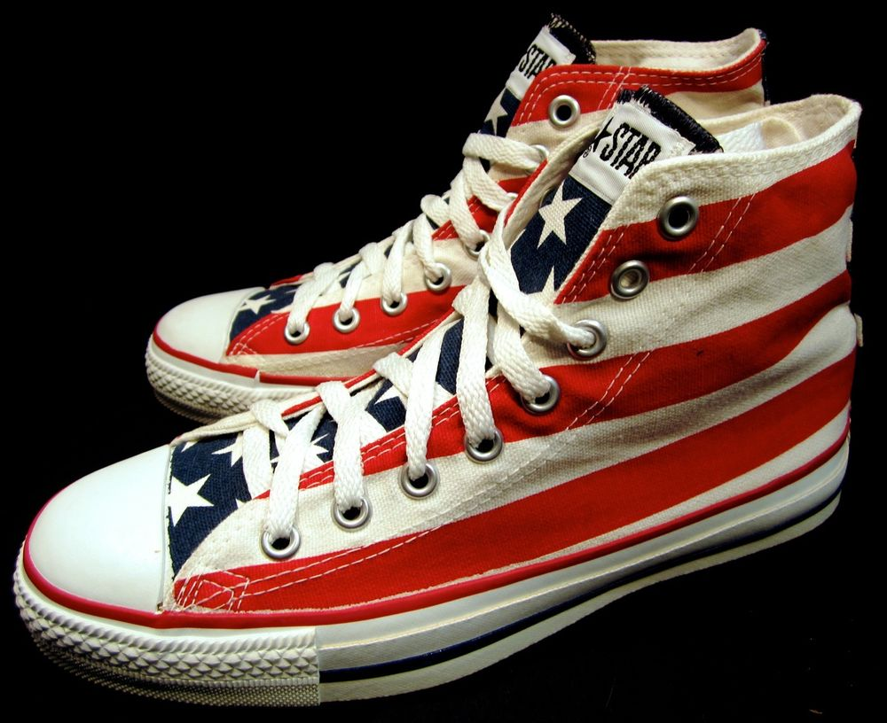 Nearly New Converse All Star 6 5 8 5 American Flag Hi Top Sneakers | eBay