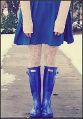 shoes,hunter boots,blue,wellies