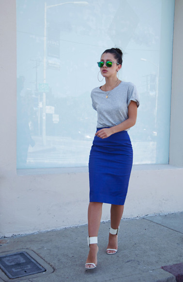 streetstyle sunglasses skirt spring summer