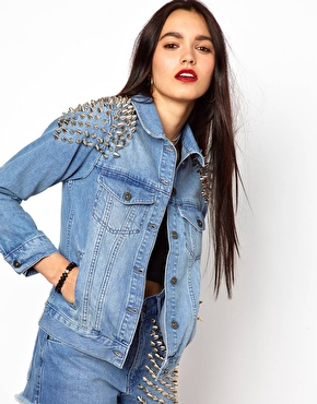 The Ragged Priest   The Ragged Priest Studded Denim Jacket at ASOS