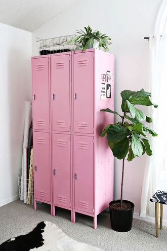 home accessory pink cute pretty lockers love tumblr home decor plants girly hipster vintage dorm room office supplies back to school
