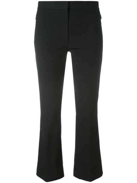 theory cropped women spandex cotton black pants