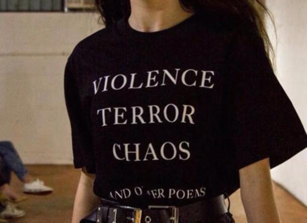 shirt cute style rebel good vibes classic dark black t-shirt t-shirt