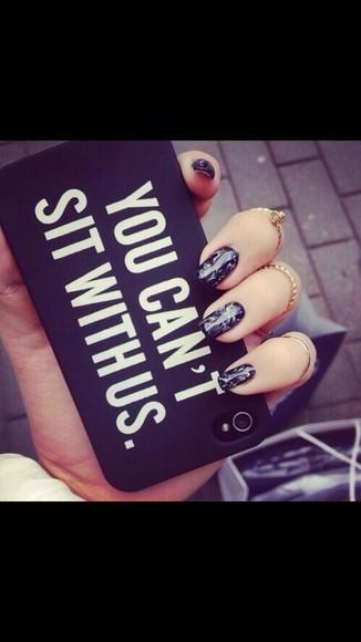 black iphone case case phone case iphone 6 case iphone 6 you cant sit with us you can't sit with us