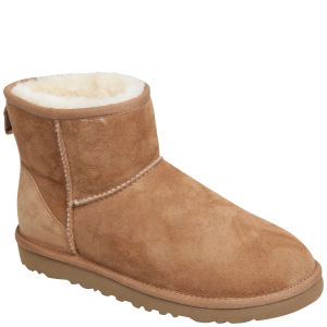 Ugg Australia Women's Classic Mini Sheepskin Boots - Chestnut 			Clothing - FREE UK Delivery