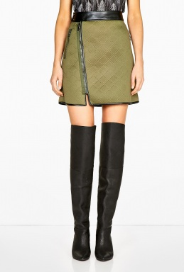 3.1 Phillip Lim  | Embossed Neoprene Aline Biker Wrap Skirt by 3.1 Phillip Lim