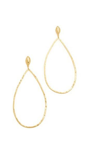 Gorjana Lola Drop Hoop Earrings - Gold