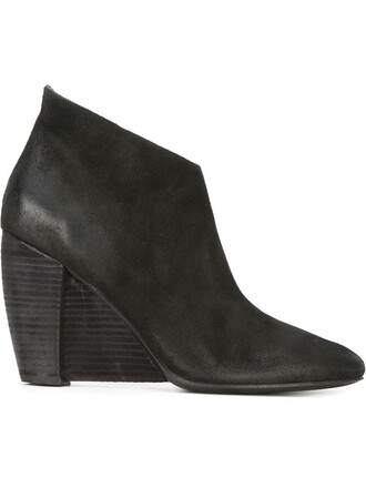 wedge boots boots black shoes