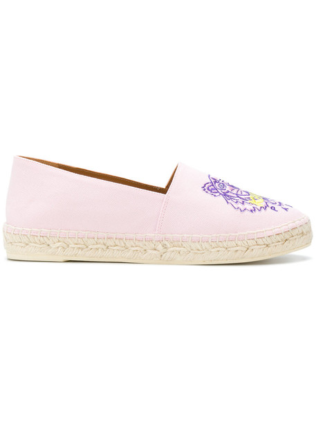 Kenzo women tiger espadrilles cotton purple pink shoes