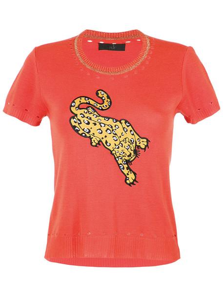 Nk blouse women knit yellow orange top