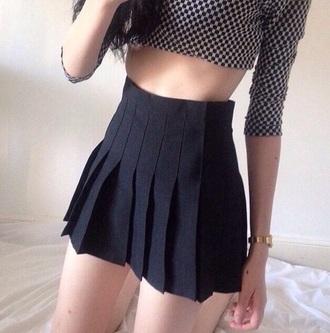 skirt pleated pleated skirt high waisted skirt
