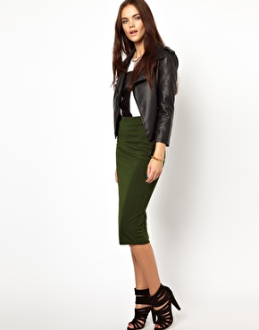 Glamorous | Glamorous Pencil Skirt In Textured Jersey at ASOS