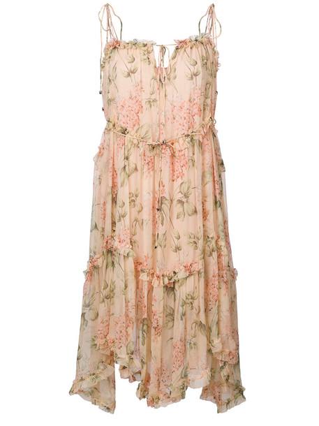 Zimmermann dress print dress women floral print silk