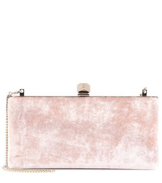 Jimmy Choo clutch velvet pink bag