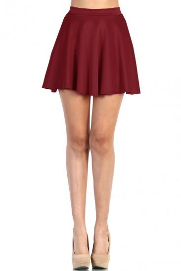 LoveMelrose.com From Harry & Molly   Skater Skirt - Burgundy