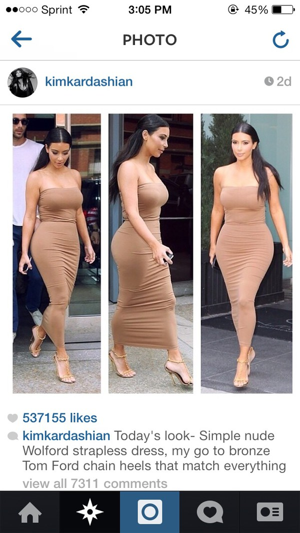 dress nude kim kardashian
