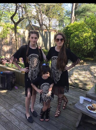 dress bonbonchibonbon dreamcatcher black dress fringes kids fashion teenagers