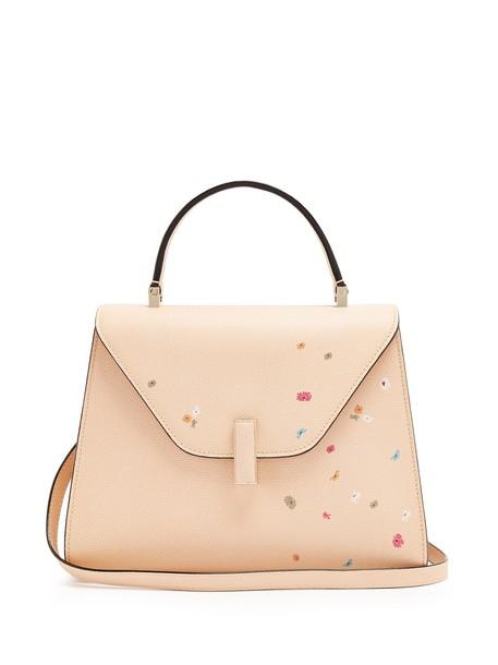 Valextra bag leather bag floral leather print pink