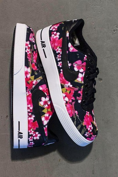 c7be7eda387b shoes nike air blouse nike nike air force 1 floral flowers nike flowers nike  air force